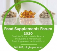 Food Supplements Forum 2020: on line il 18 giugno